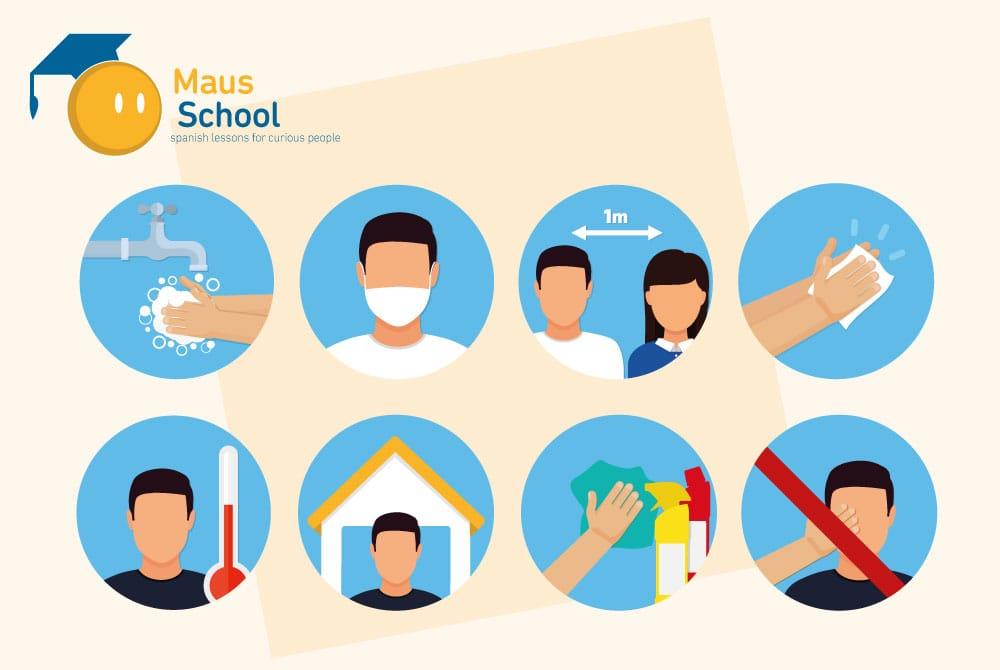 Protocolo contra el COVID-19 en Maus School. Maus School cumple con las medidas establecidas por las autoridades sanitarias.